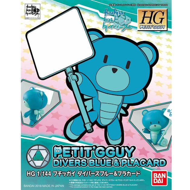 HGPG 1/144 Petit'gguy Diver Blue & Placard - Model Kit