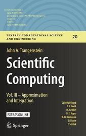 Scientific Computing by John A. Trangenstein