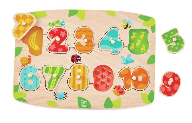 Hape: Number Peg Puzzle