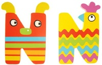 Tatiri Alphabet Letter Crazy Animal - N