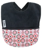 Silly Billyz Fleece Pocket Bib (Grey Heart)