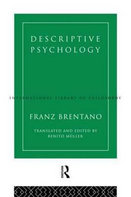 Descriptive Psychology by Franz Brentano image
