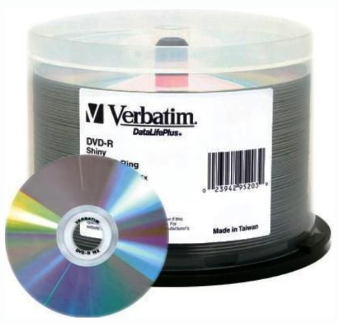 Verbatim DVD-R 4.7GB 50Pk Bulk Silver Shiny 16x image