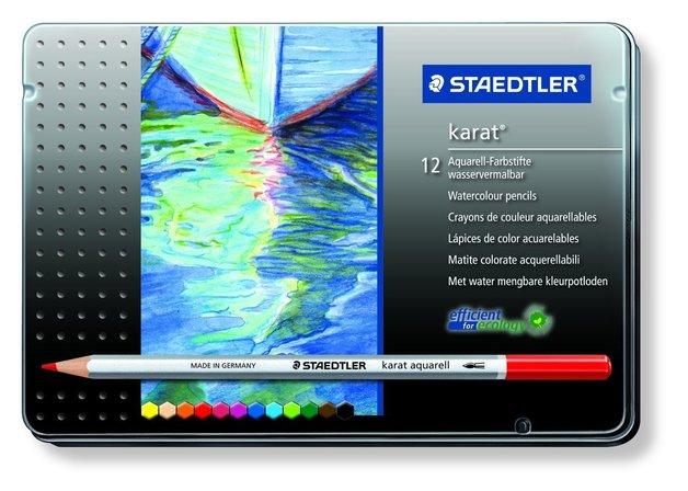 Staedtler: Karat Aquarell Professional Watercolour Pencils - Tin of 12