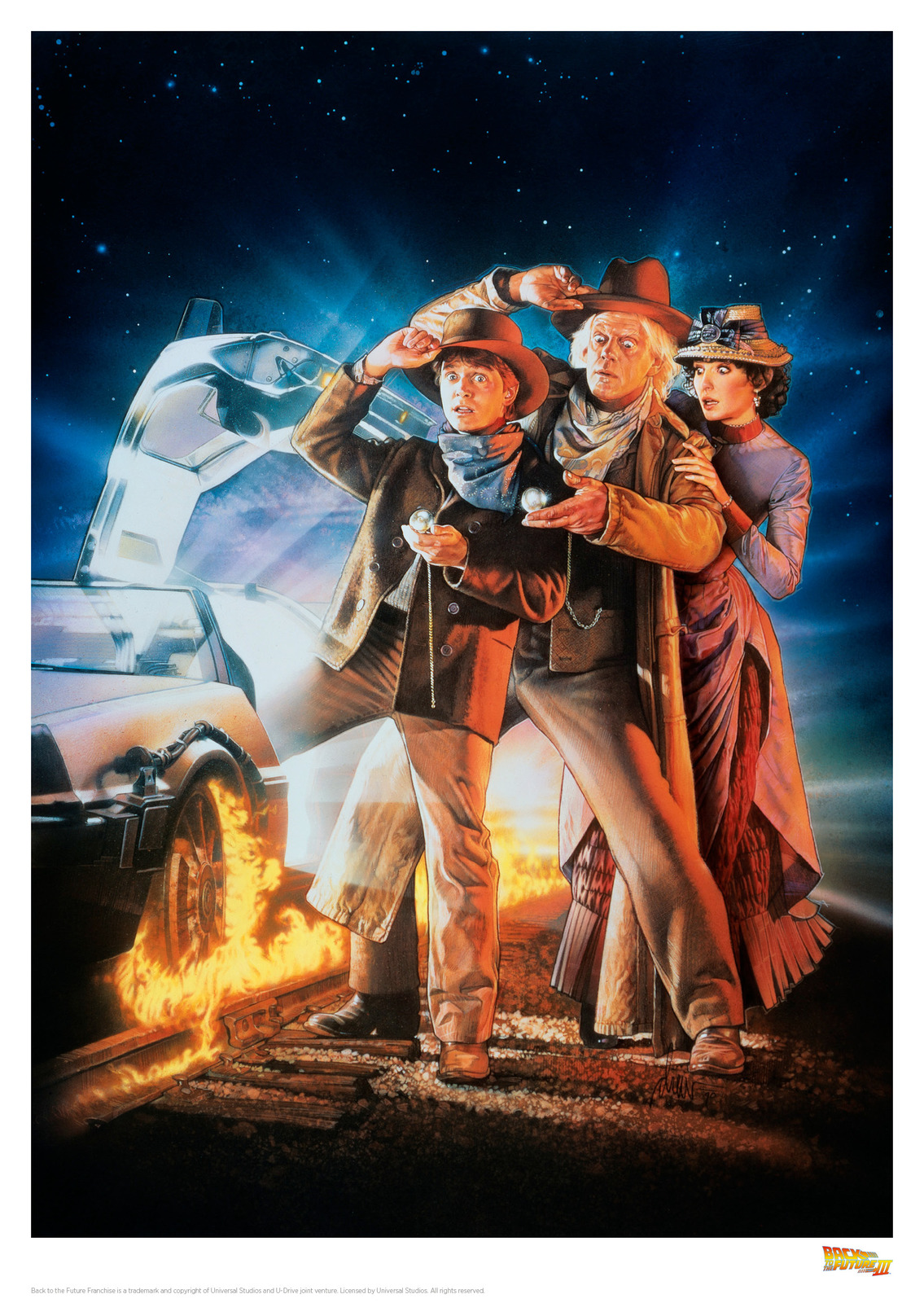 Back to the Future: Premium Art Print - 3rd Movie Poster image