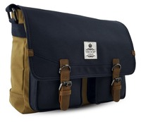 Rutherford Messenger Bag - Camel & Navy