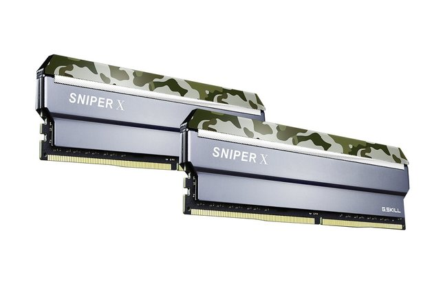 2 x 8GB G.SKILL Sniper X 3200Mhz DDR4 Desktop Memory - Classic Camo