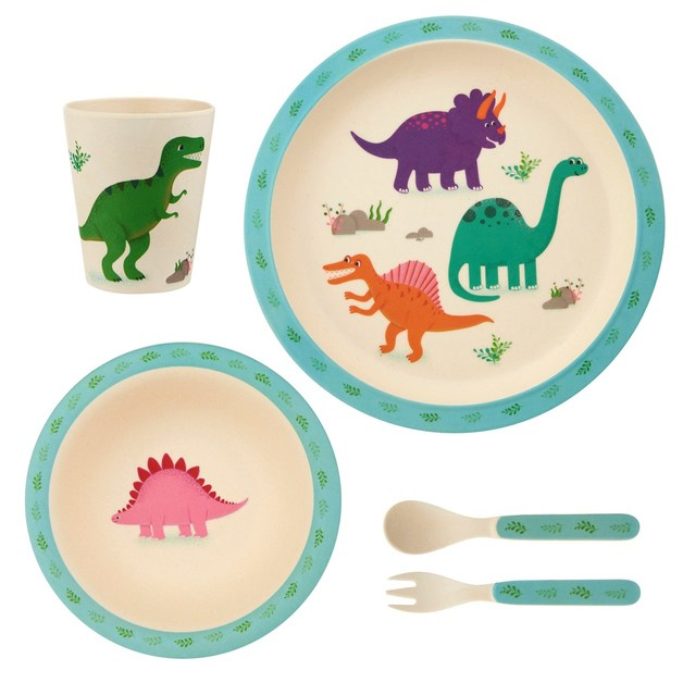 Sass & Belle: Roarsome Dinosaurs - Bamboo Tableware Set
