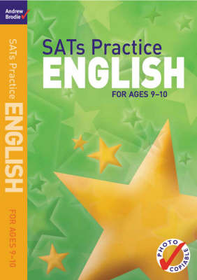 SATs Practice English: For Ages 9-10 by Andrew Brodie image