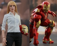 Iron Man 3 - Pepper Potts & Mark IX 1:6 Scale Collectible Figure Set
