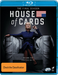 House Of Cards: Season 6 (3 Disc Set) on Blu-ray