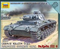 Zvezda 1/100 German Pz. Kpfw. III G Medium Tank