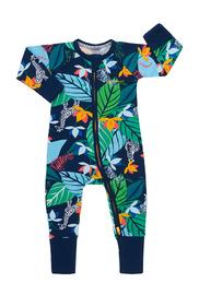 Bonds Zip Wondersuit Long Sleeve - Spy in the Jungle Navy (Newborn)
