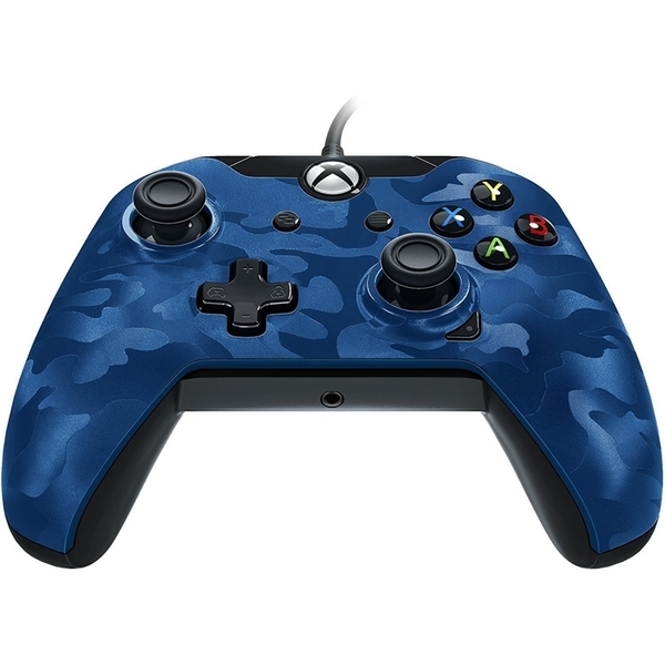 PDP Deluxe Wired Controller - Blue Camo for Xbox One