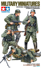 Tamiya German Infantry (French Campaign) Figure Set 1:35 Model Kit