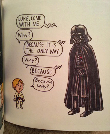 Darth Vader and Son by Jeffrey Brown image