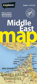 Middle East Road Map by Explorer Publishing and Distribution