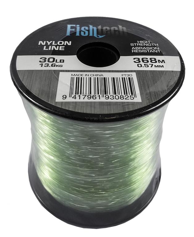 Fishtech 1/4 Pound Nylon Spool 30lb 368m