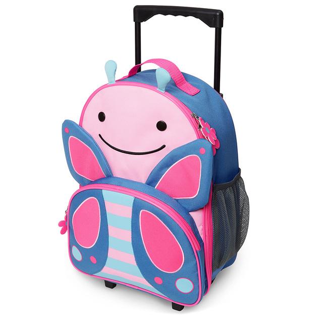 Skip Hop: Zoo Kids Rolling Luggage - Butterfly