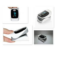 Fingertip Heart Rate Monitor With Pulse Oximeter - Gray