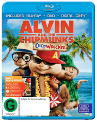 Alvin and The Chipmunks Chipwrecked on DVD, Blu-ray, DC