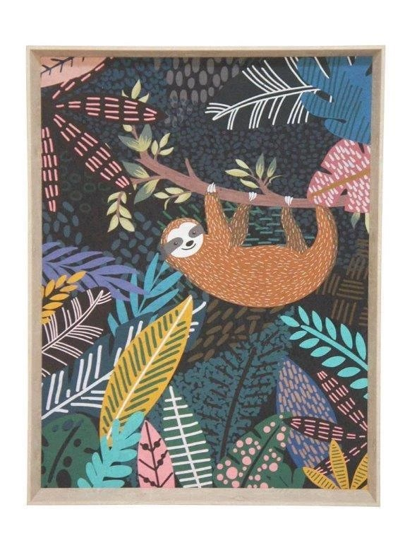 Jungle Sloth Print (57x77cm)