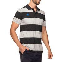 Canterbury: Mens Classics - Hoop Stripe Polo - Vanta Black Marl (X-Large)