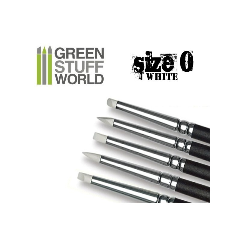 Green Stuff World Colour Shapers Brush Size 0: White Soft image