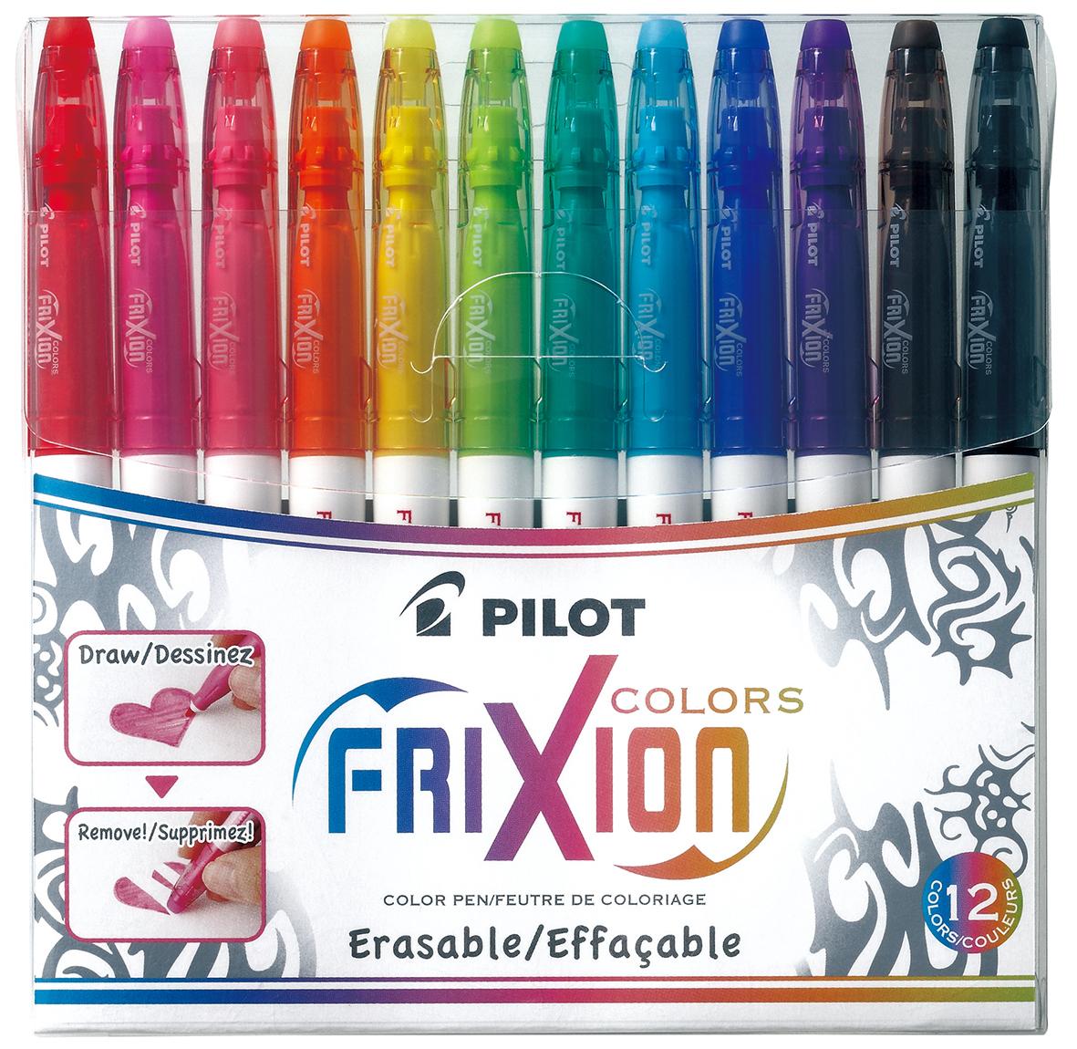 Pilot FriXion Erasable Colours Pens Pkt 12 image