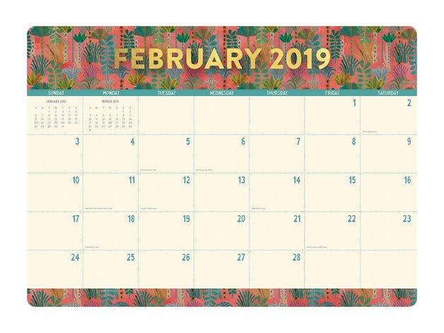 Justina Blakeney: Botanicals 2019 Desk Blotter Planner