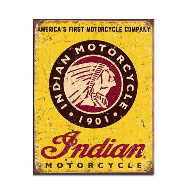 Indian Motorcycles Retro Tin Sign