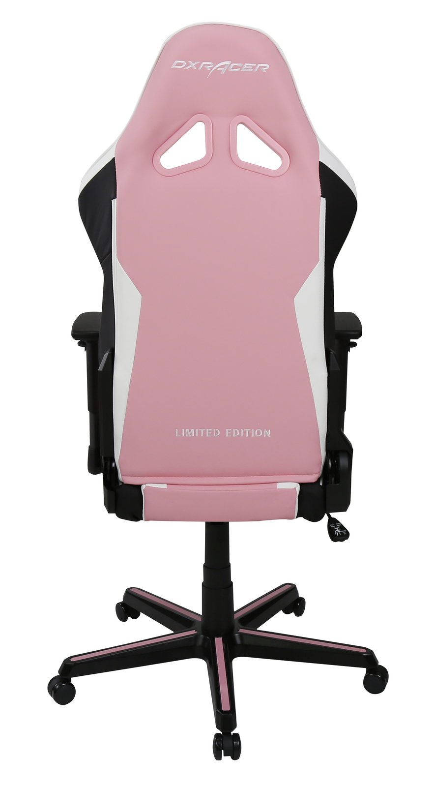 DXRacer Pink Paw Print RZ95 Gaming Chair (Pink & White) for  image