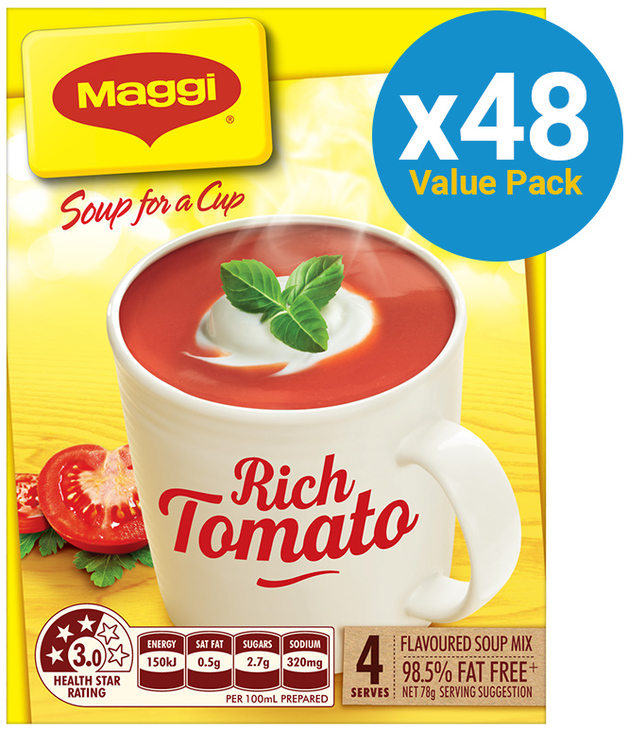 MAGGI Soup for a Cup Instant Soup - Rich Tomato (78g) 48pk