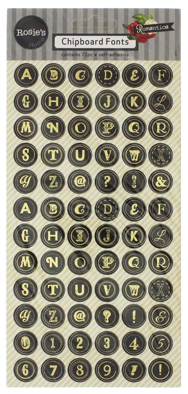 Buy Rosie's Studio Chipboard Fonts at Mighty Ape Australia