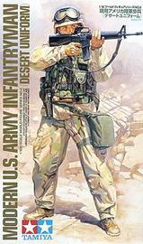 Tamiya: 1/16 Modern U.S. Infantryman (Desert Uniform) - Scale Model