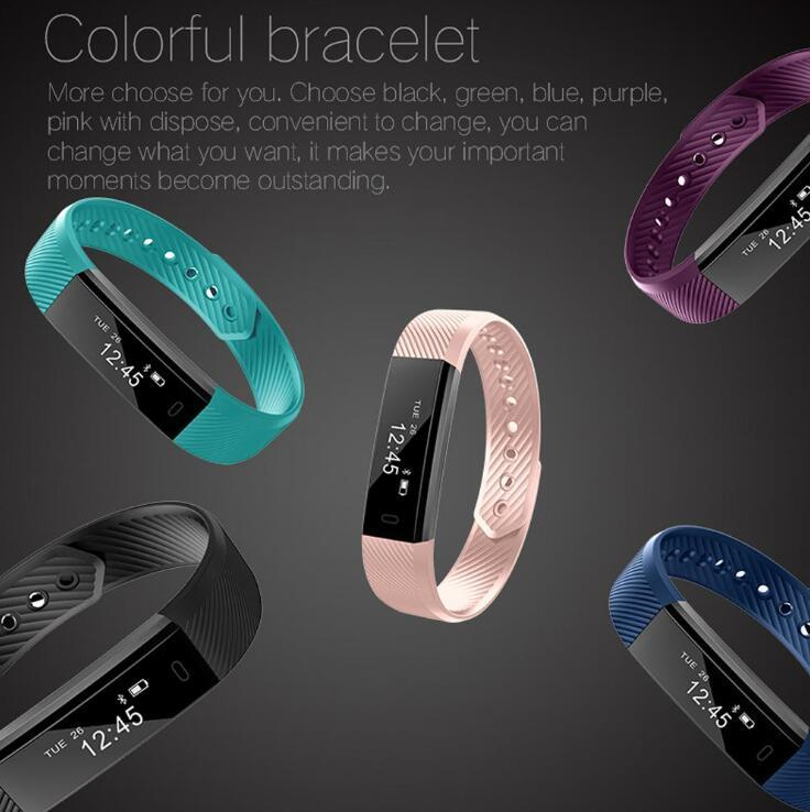 Smart Fitness Tracker Bands w/ Heart Rate Monitor - Purple image