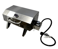 Portable Stainless Steel BBQ - Single Burner Barbecue Grill
