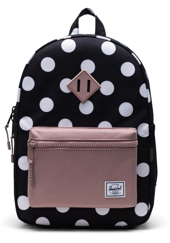 Herschel Supply Co: Heritage Youth Backpack - Polka Dot Black and White/Ash Rose