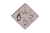 Pewter Tablecloth Weights - Garden Friends - Set of 4