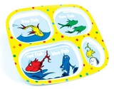 Bumkins: Melamine Divided Plate - Dr Seuss Fish
