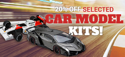20% off Selected Model Kits!