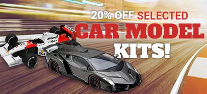 20% off Selected Model Kits!