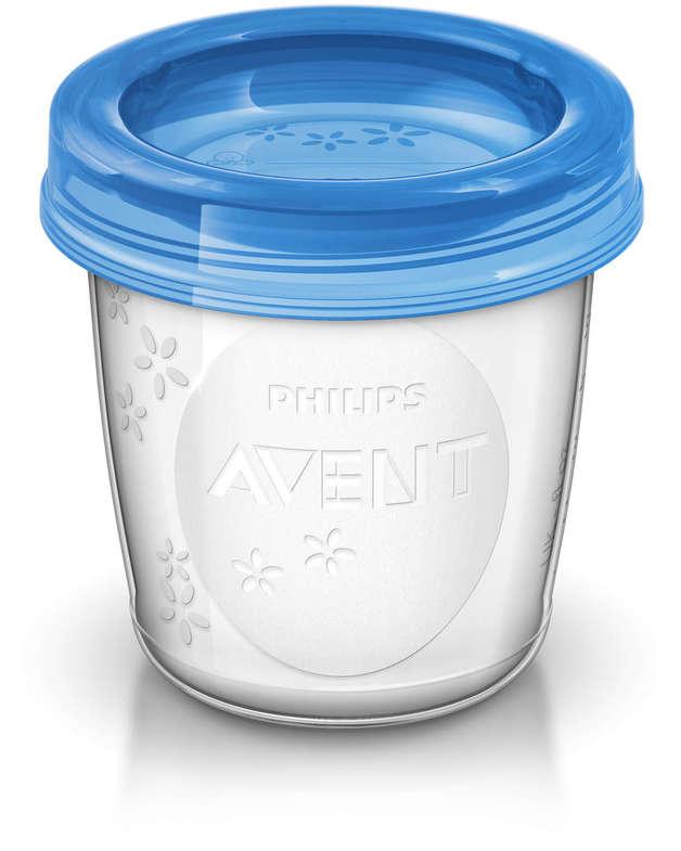 Philips Avent Milk Storage Cups - 180ml (10 Pack)
