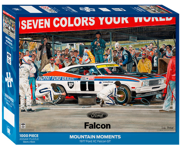 Impact Puzzle Ford Mountain Moments Pitstop Falcon XC Puzzle 1,000 pieces