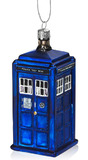Tardis Glass Christmas Ornament