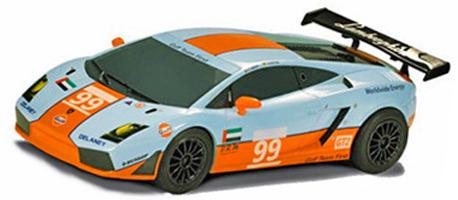 Scalextric Lamborghini Gallardo Gtr 99 Gulf 1 32 Slot Car At