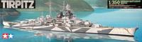 Tamiya Tirpitz German Battleship 1/350 Model Kit image