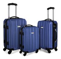 Milano Abs Luxury Shockproof Luggage - Blue (3Pcs/Set)