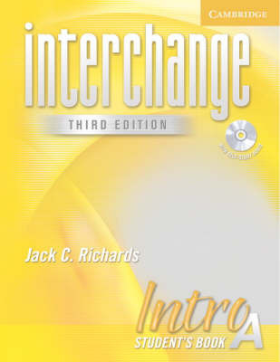 Interchange Intro Student's Book A with Audio CD by Jack C Richards image