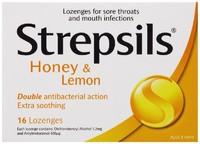 Strepsils Soothing Lozenges - Honey & Lemon (16's)